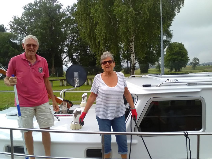 Janie en Ton uit Friesland met hun boot Grutte Bolle.