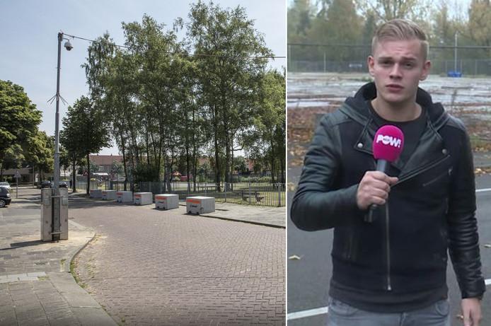 De Haaglaan in Helmond. Inzet: Dennis Schouten