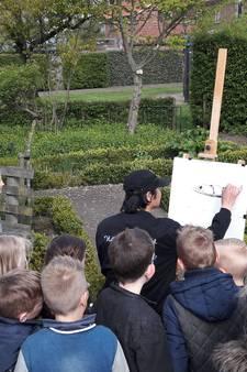 Bredevoortse kinderen genieten met Chinese kunstenaar He Jiang