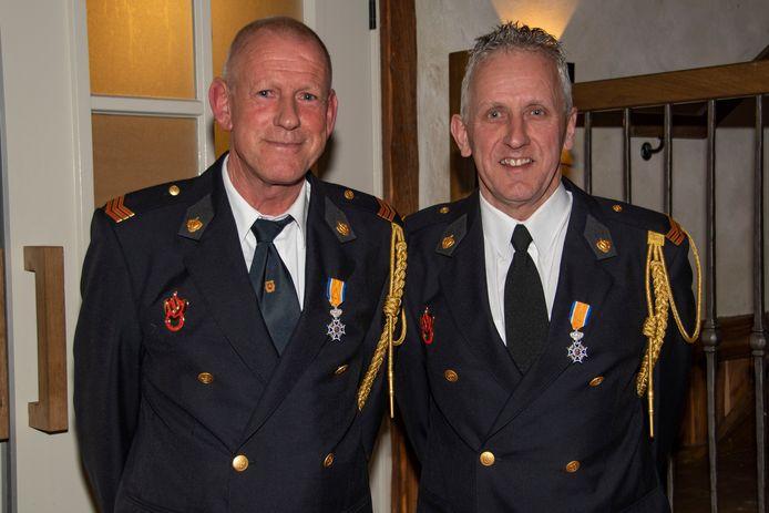 Links Theo van Spreeuwel en rechts Peter Timmermans.