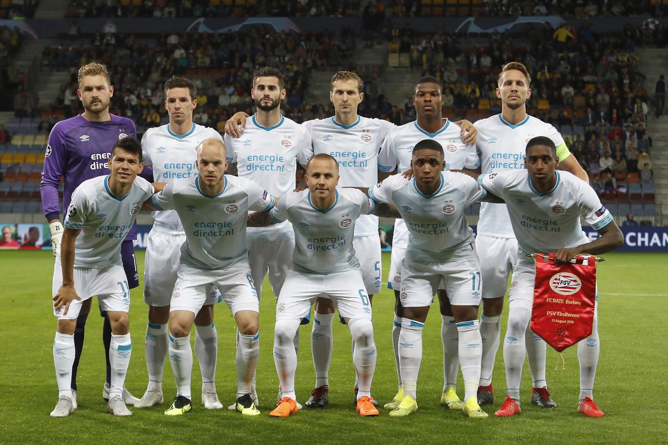 PSV voor het duel met BATE Borisov