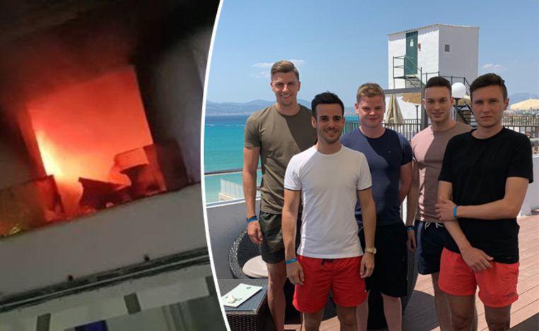 Yentl Desmet en zijn vrienden verblijven in het getroffen hotel.