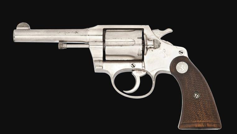Een colt .38 revolver, ooit het eigendom van de beruchte gangster Al Capone. Beeld anp