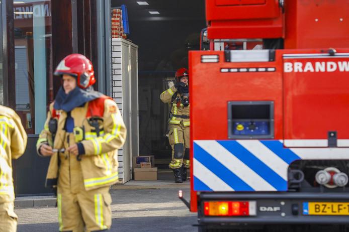 Brand bij Trend Deuren in Nuenen.