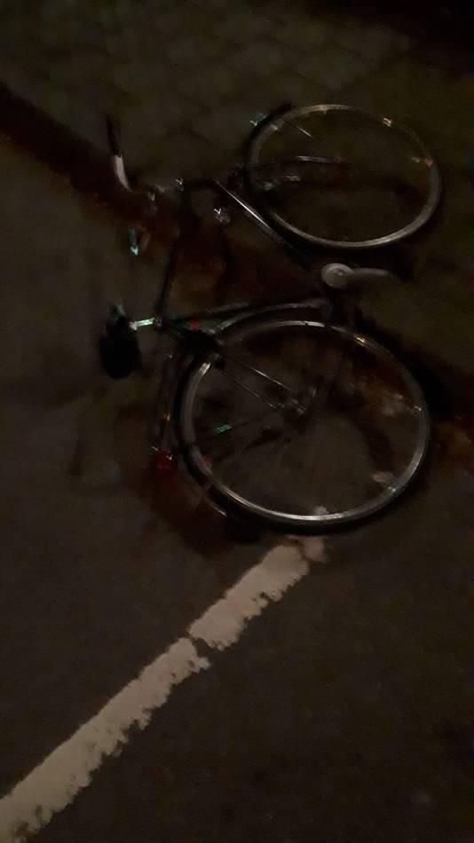 De fiets van de overvaller.