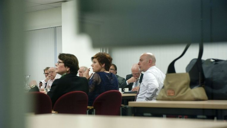 CDA-partijvoorzitter Ruth Peetoom tijdens de besloten vergadering van het partijbestuur in Utrecht. Beeld anp