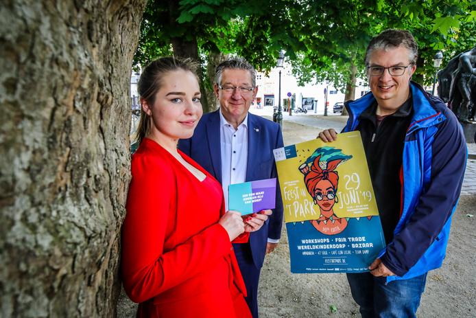 Brugge 30 jaar feest in 't park: Chelsie Corthals, Dirk de Fauw, Ingmar Ricquier