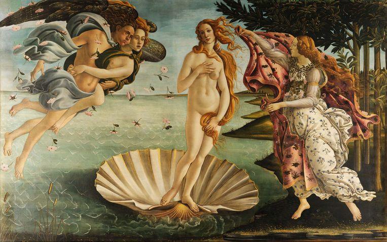 Sandro Botticelli, De Geboorte van Venus (1485).  Beeld Uffizi Gallery
