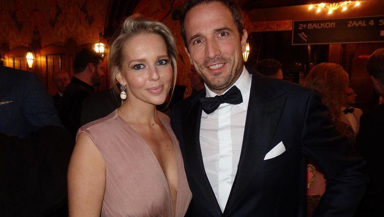 Hoofdrolspeelster Chantal Janzen en haar man Marco Geeratz. 'Dat is hem nou' Beeld Schuim