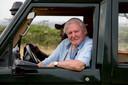 Sir David Attenborough in Kenia, tijdens opnames voor zijn nieuwe film.