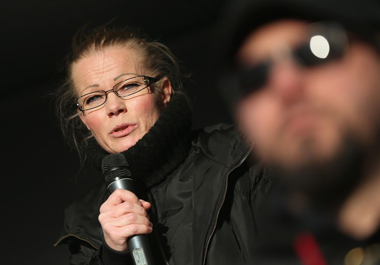 Woordvoerster Kathrin Oertel verliet Pegida en stichtte de organisatie 'Directe Democratie voor Europa'.