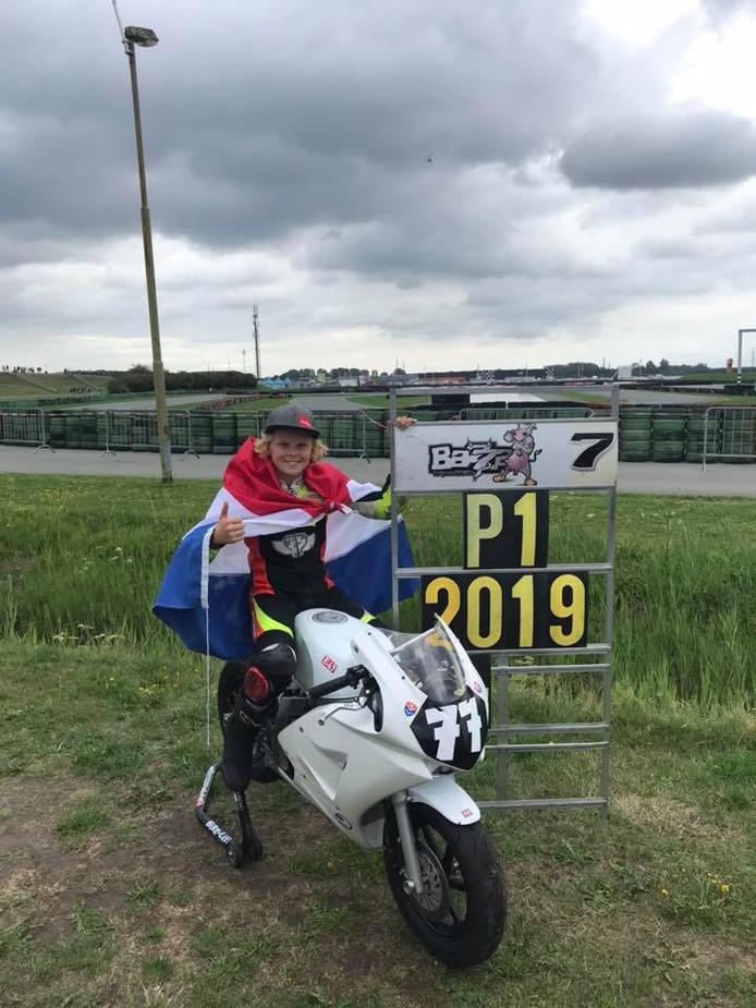 Loris Veneman uit Dalfsen werd zondag Europees kampioen.