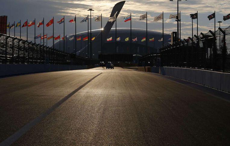 Het nieuwe Formule 1-circuit van Sotsji. Beeld reuters