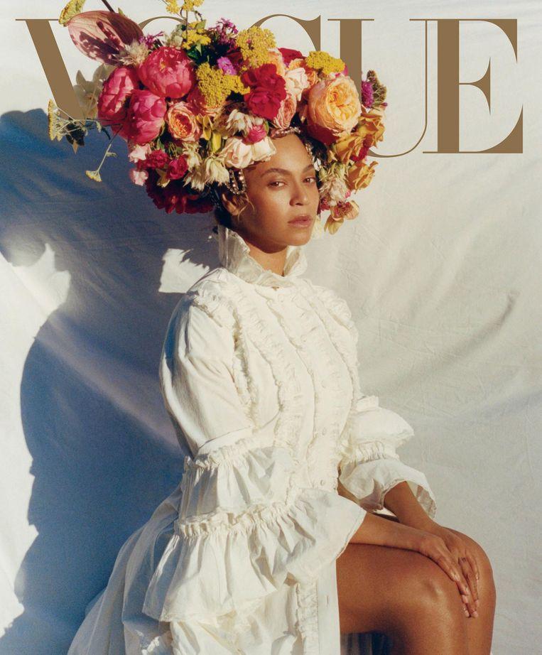 Beyoncé op de cover van Vogue Beeld getty