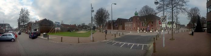 Panorama centrum Rucphen begin dit jaar.