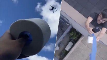 Drone vliegt wc-rol naar man in quarantaine