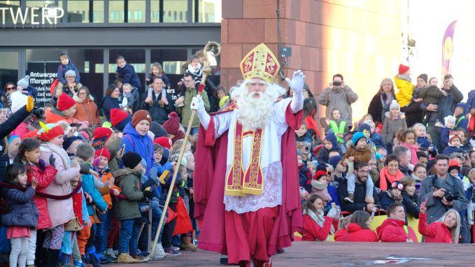 Sinterklaas komt aan in Antwerpen