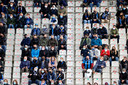 Fans van Club Brugge in het Jan Breydel voor de match tegen RSC Anderlecht.