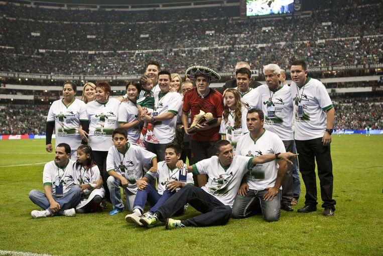 Cuauhtemoc Blanco nam op 41-jarige leeftijd afscheid van het Mexicaanse team.