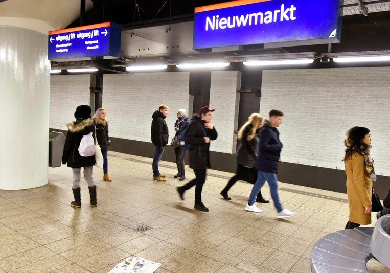 De metro van Amsterdam Beeld anp