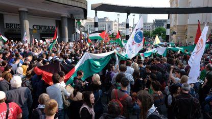 800 betogers tegen geweld in Israël aan Brussel-Centraal