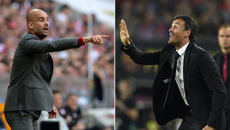 Guardiola (L) en Enrique (R). Beeld afp
