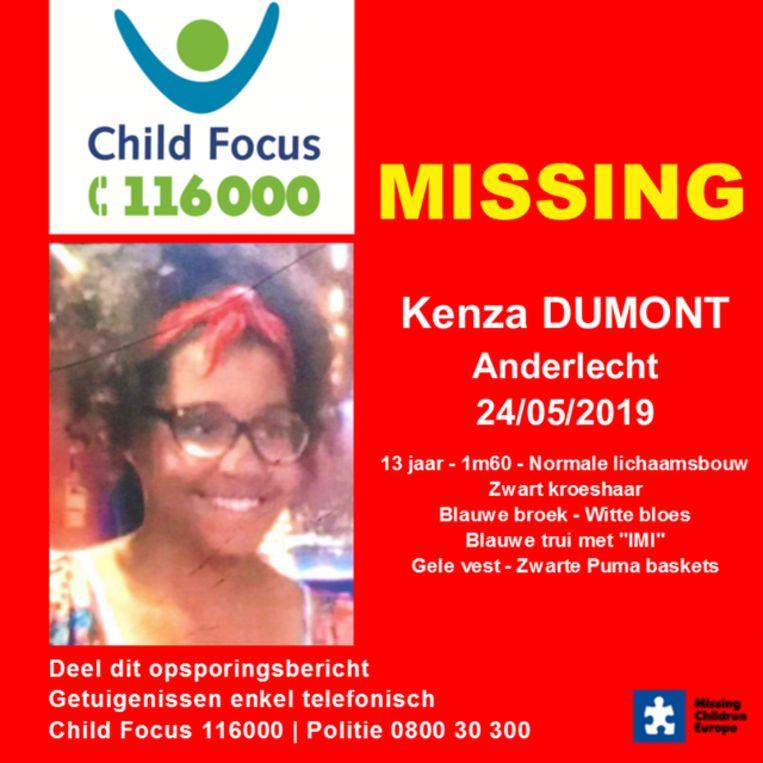 Kenza Dumont is teruggevonden.