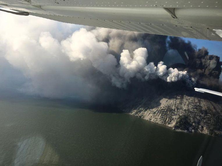 De vulkaan op het eilandje Kadovar.