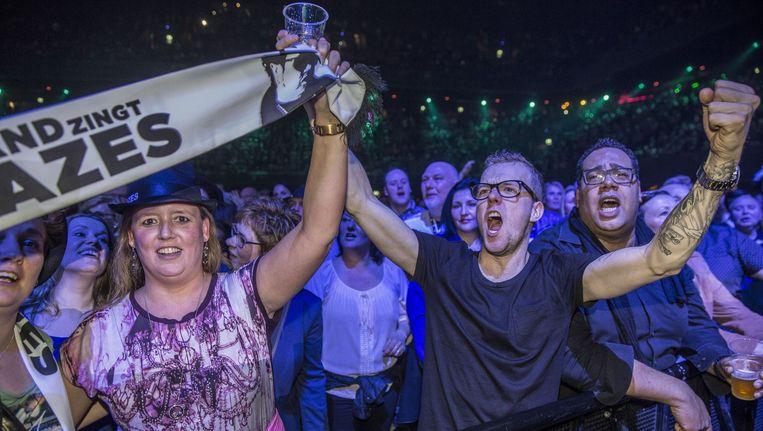 Bij het Holland Zingt Hazes-concert in maart 2015 liep iemand een gecompliceerde armbreuk op, volgens letselschadejurist Stafanie du Maine. Beeld Amaury Miller (www.amaurymiller.nl)