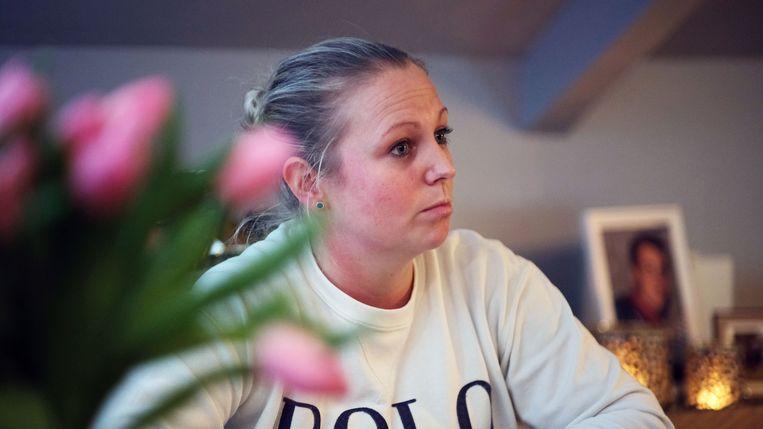 Alicia Waelkens, de vriendin van Matthias Vuylsteke die vorig jaar overleed bij een explosie in het bedrijf Pouleyn.