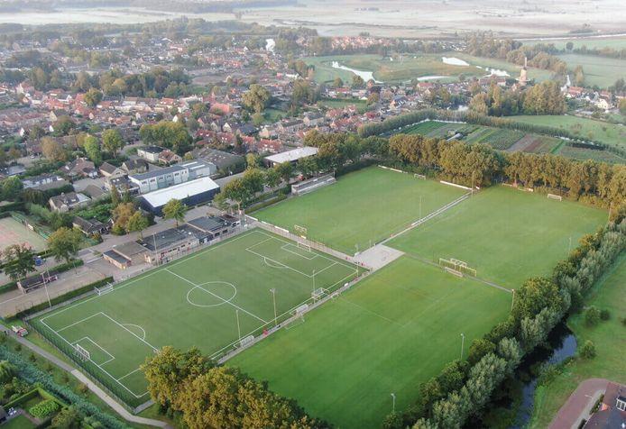 Het complex van Sportvereniging Voetbal Terheijden (SVT).