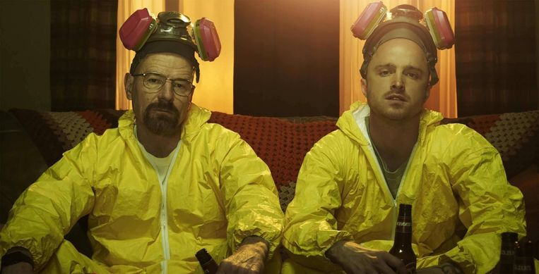 Bryan Cranston en Aaron Paul in Breaking Bad Beeld Netflix