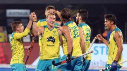 Australië naar laatste vier na 3-0 zege tegen Frankrijk, als Red Lions morgen winnen treffen ze Engeland