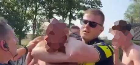 Omstanders filmen arrestaties zwembad Almen: 'Agent geslagen? Kon hij niet, hij zat meteen in een nekklem'