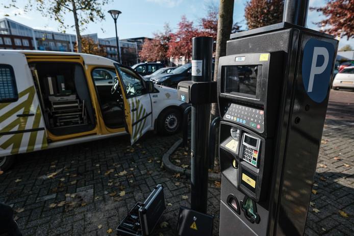 De nieuwe parkeerautomaat in Zevenaar.