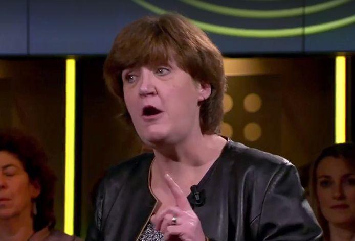 Annemiek Ottenhof uit Breda in DWDD-debatprogramma Het Lagerhuis Still uit DWDD uitzending