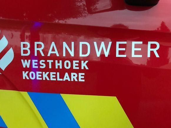 De brandweer van Koekelare kwam de brokstukken opruimen.