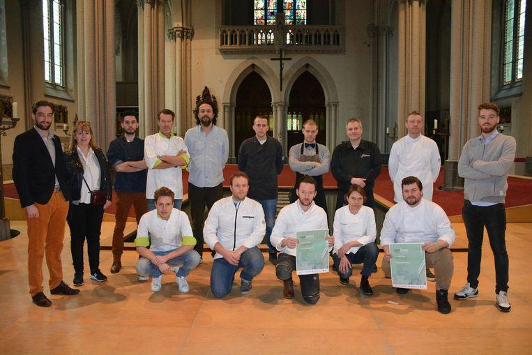 Twaalf Brugse chefs koken op 8 en 9 april in de Magdalenakerk.