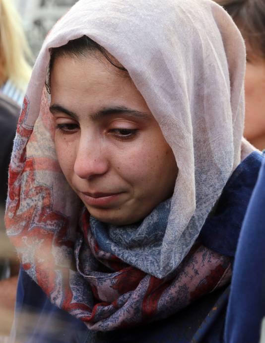 Fatima, zus van de doodgeschoten Mohammed Hamychi.