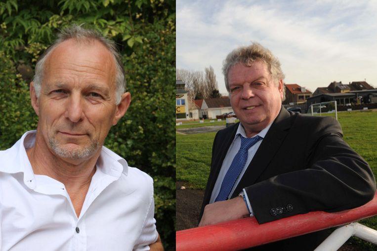 Eddie Boelens (Groen) en burgemeester Chris Selleslagh (Open Vld).