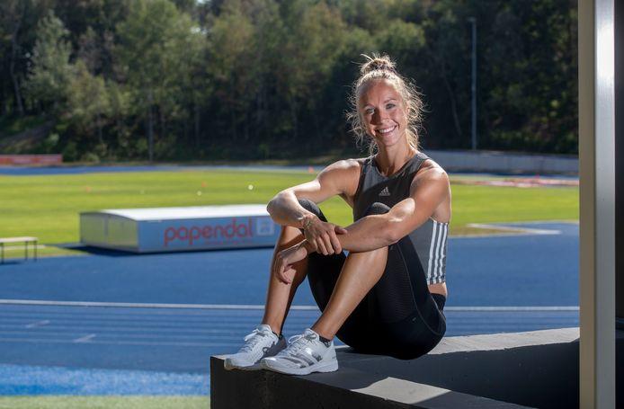 Eva Hovenkamp mikt op een podiumplek op de NK atletiek in Utrecht dit weekend.