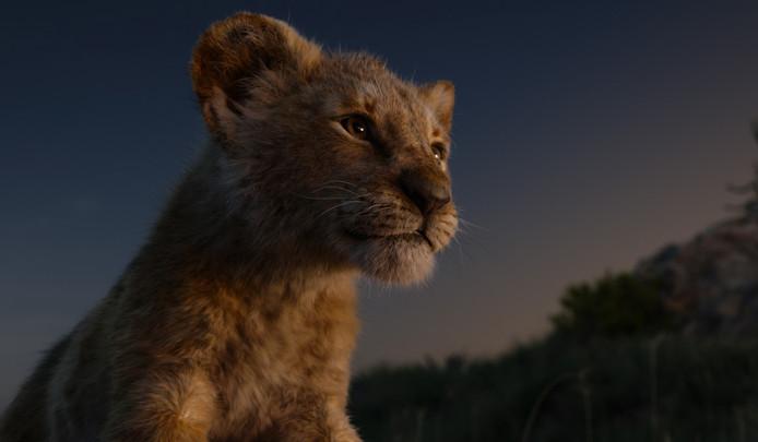 Le mignon Simba dans Le Roi Lion.