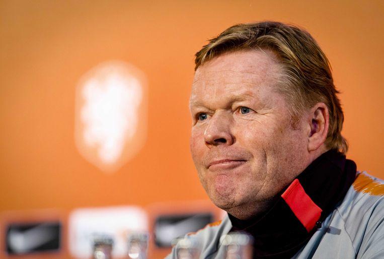 Oranje-bondscoach Ronald Koeman.