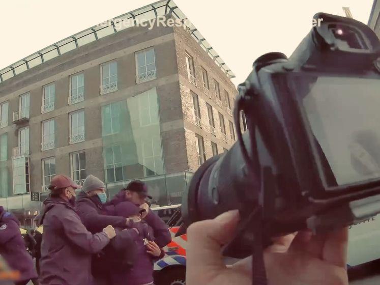 Heftige bodycambeelden fotograaf tijdens rellen in Eindhoven