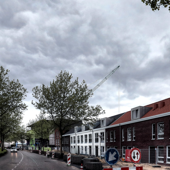 Skyline Bergslicht in Bergen op Zoom.