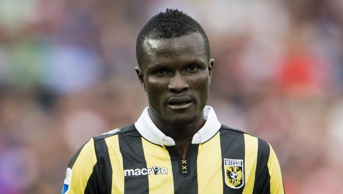 Abiola Dauda was op schot voor Jong Vitesse.