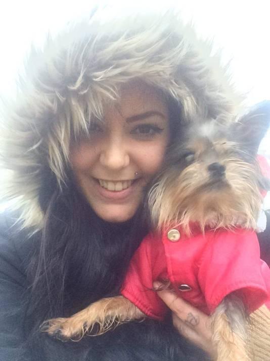 Elisa Louwen en haar hond Roxy