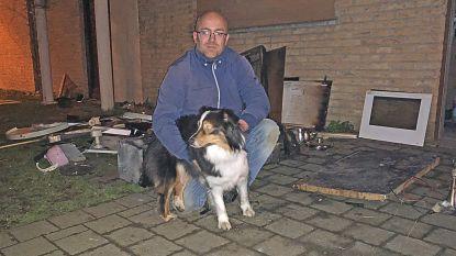 Postbode redt hond uit brandend huis, en doet daarna gewoon verder met zijn ronde