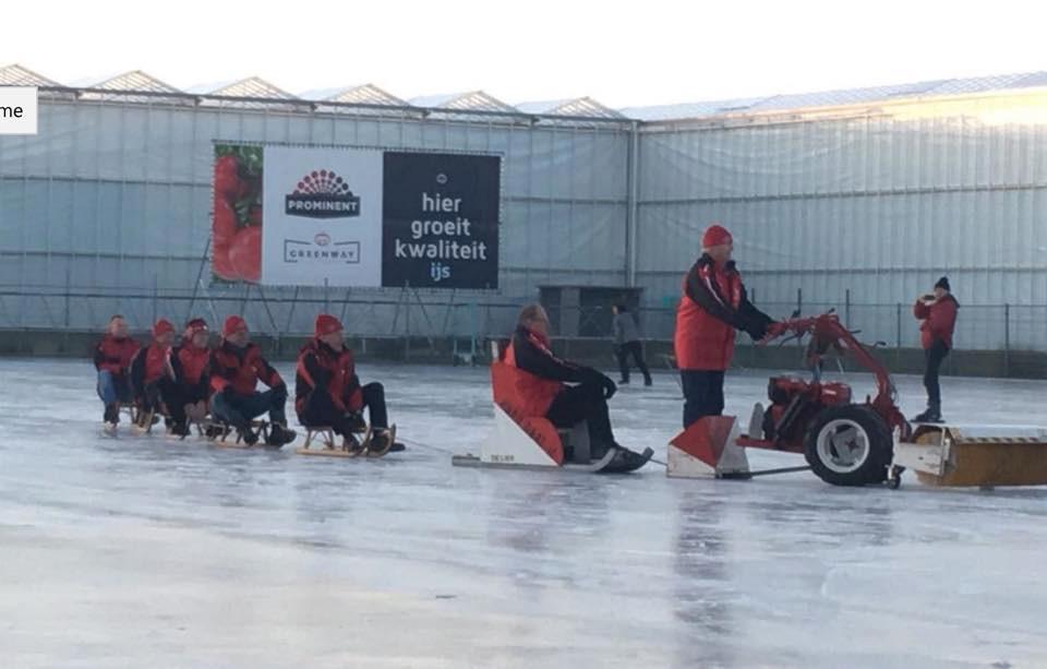 Februari 2018 kon op de baan in De Lier worden geschaatst. Volgens voorzitter Wim van den Berg zijn ze vorig jaar elf dagen open geweest.