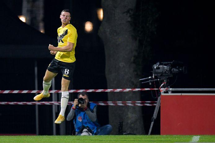 21-09-2020: Voetbal: Jong FC Utrecht v NAC: Utrecht (L-R): Nick Venema of NAC Breda celebrating goal 3